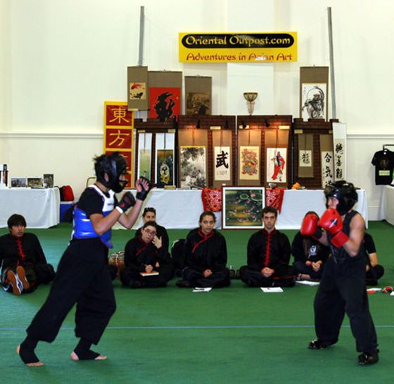 ICMAC fighting match by Oriental Outpost booth