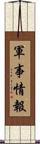 Military Intelligence Wall Scroll